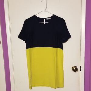 Block Color T-Shirt Dress